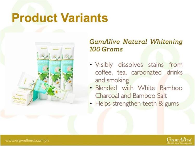 GumAlive Natural Whitening