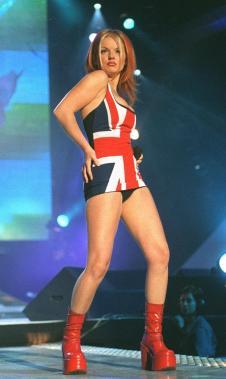 Geri Halliwell of pop group Spice Girls performing on stage at Brit Awards circa 1997 (Newscom TagID: mrpphotos211794) [Photo via Newscom]
