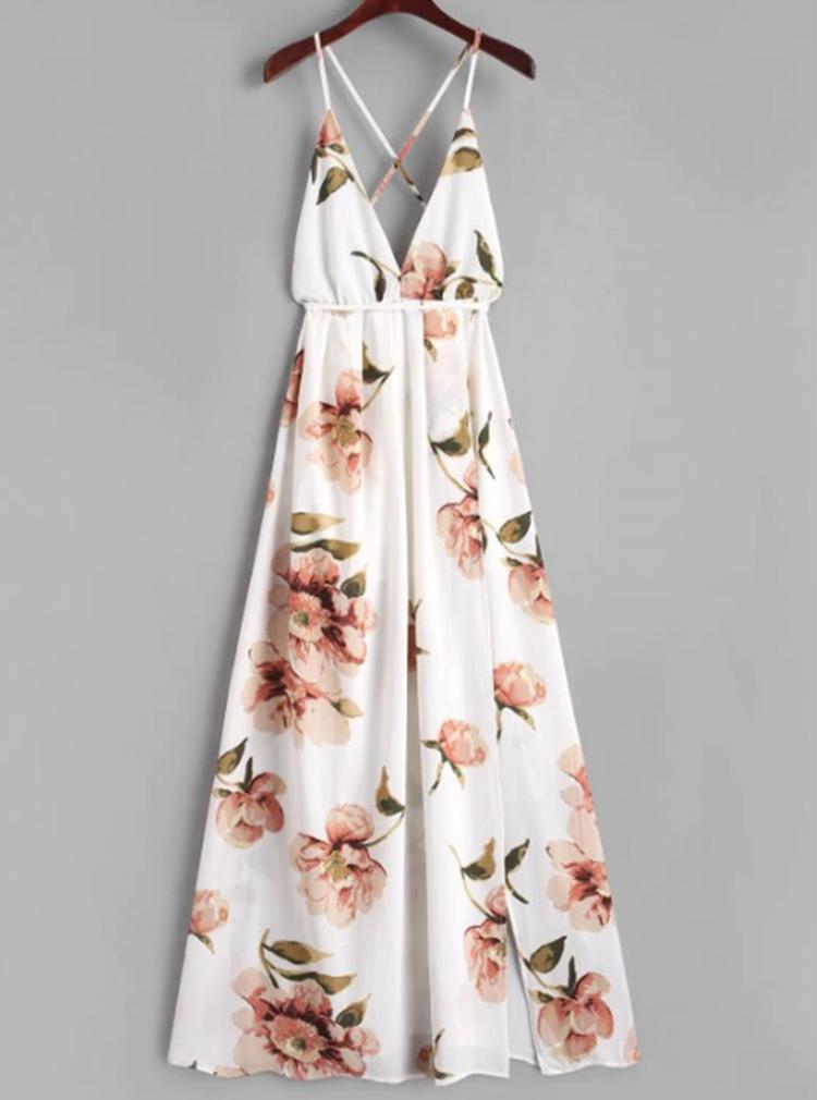 Maxi White Florals